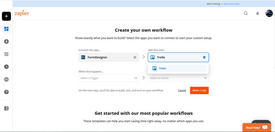 Подключите FormDesigner к сотням других приложений с помощью Zapier 2