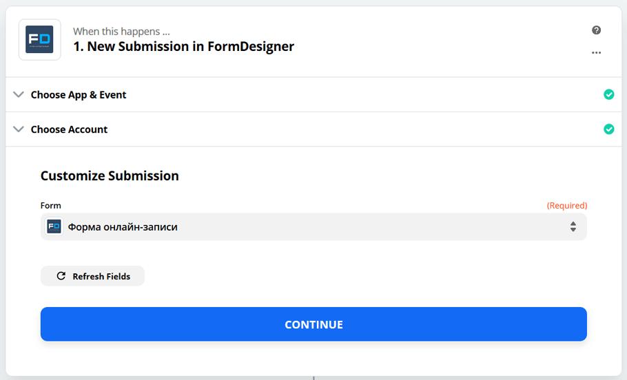 Подключите FormDesigner к сотням других приложений с помощью Zapier 7