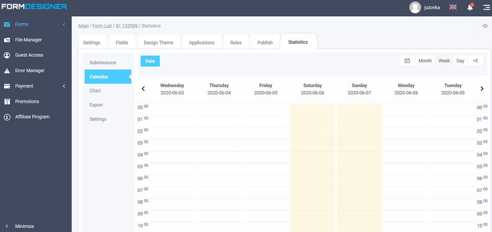 Schedule setting