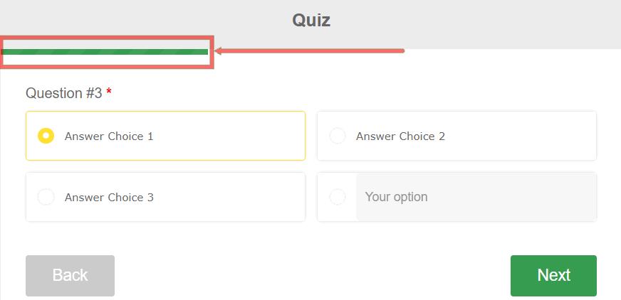 Quiz processing indicator