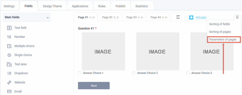 Page Options