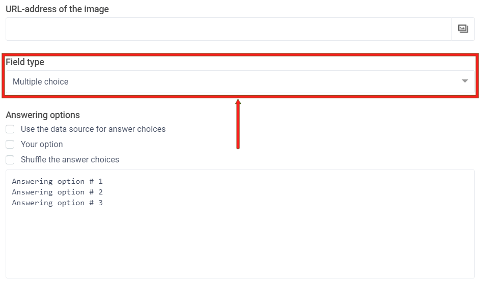 Quickly switch item types between checkboxes, radio buttons or dropdowns