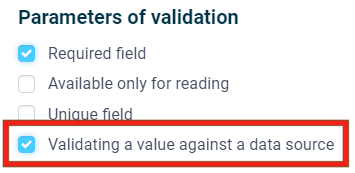 Activate Data Source Validation