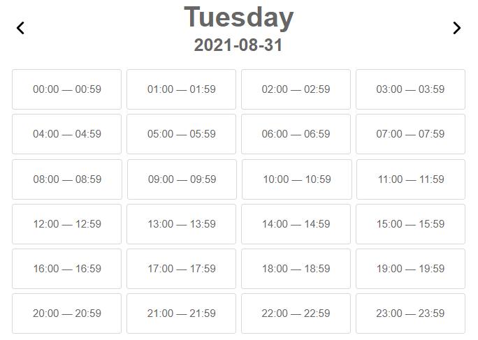 Calendar time selection