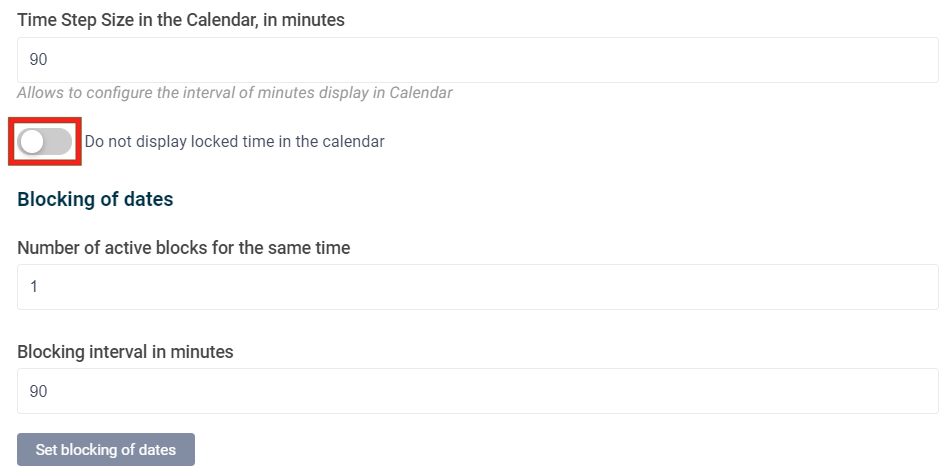 Don't show locked time in calendar