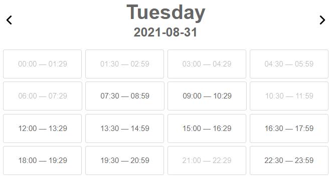 Display locked time in calendar